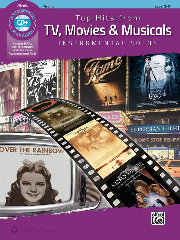 Top Hits From Tv Movies And Musicals Instrumental Solos