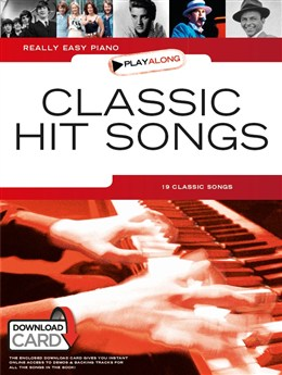 Really Easy Piano Play Along : Classic Hit Songs - Book - Download Card