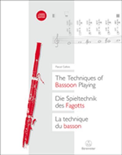 The Techniques Of Bassoon Playing / Die Spieltechnik Des Fagotts / La Technique Du Basson