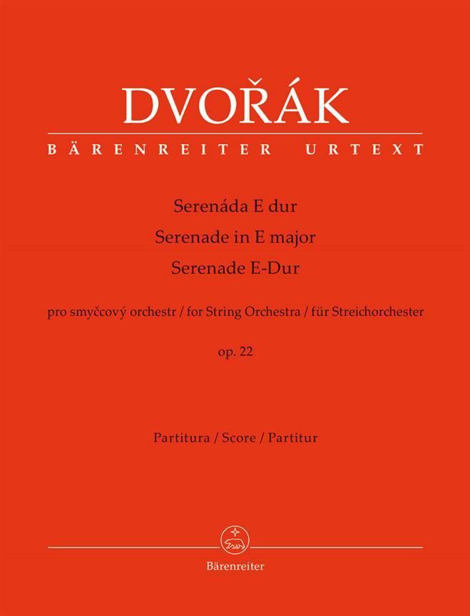 Sérénade For String Orchestra E Major Op. 22