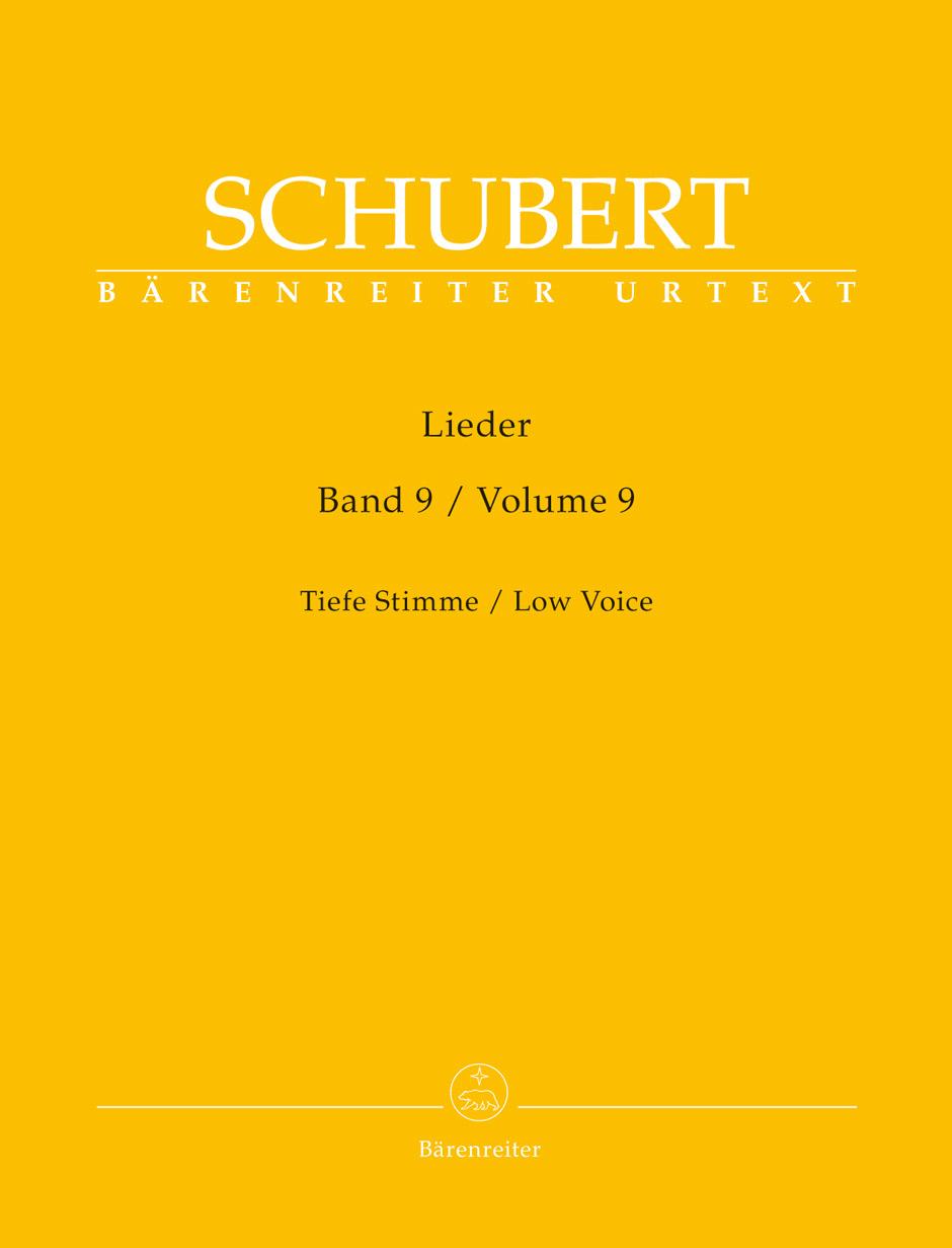 Lieder Vol.9 - Low Voice