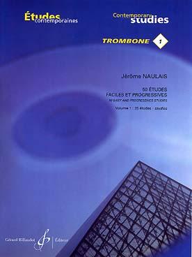 50 Etudes Faciles Et Progressives Vol.1 : 25 Etudes