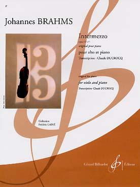 Intermezzo Op. 117 No 1