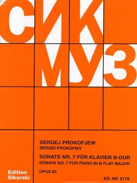Sonate #7, Op. 83 En Si Bémol Majeur