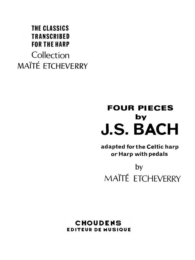 4 Pieces De Bach Harpe