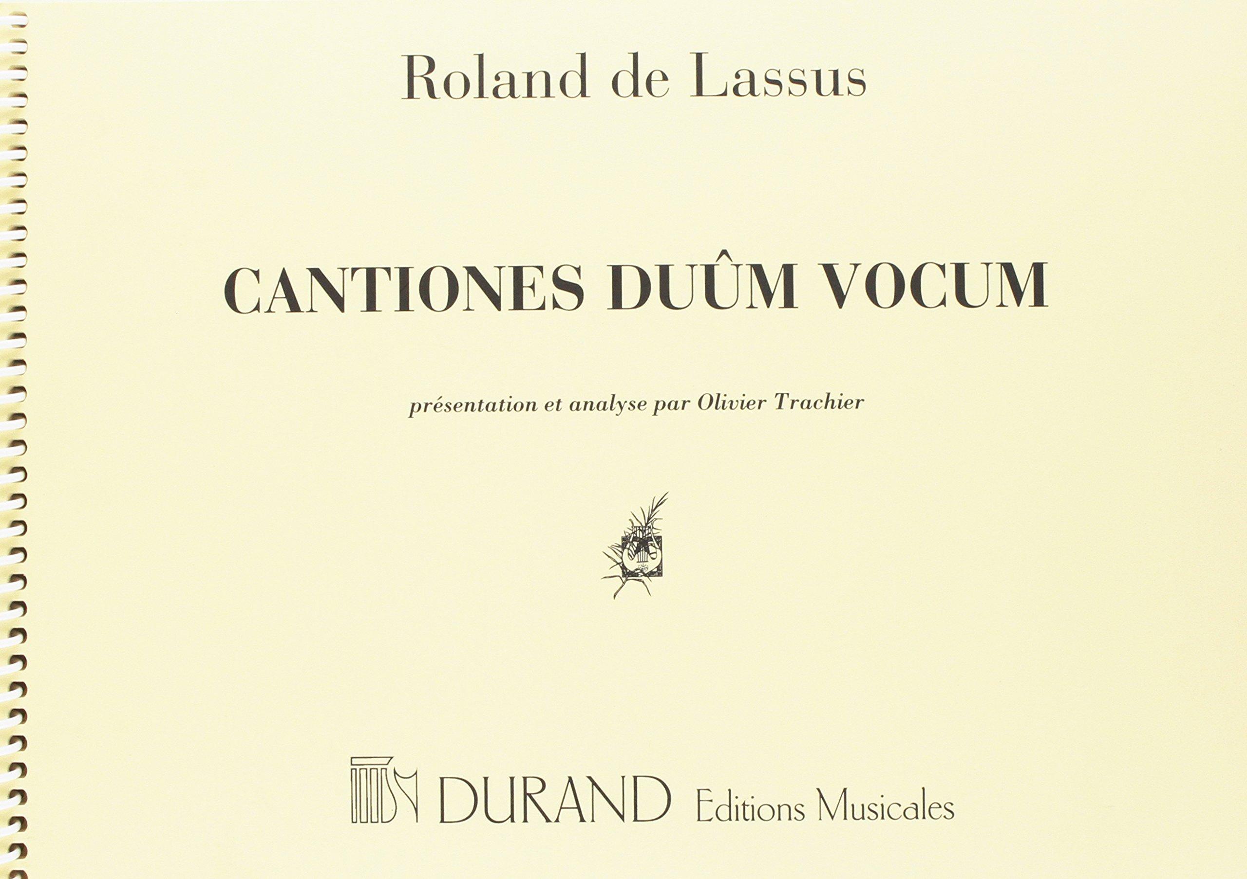 Cantiones Duum Vocum Presentation Et Analyse - Trachier