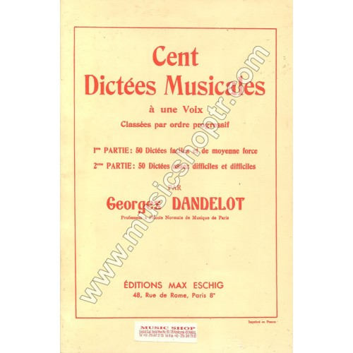 100 Dictees Musicales