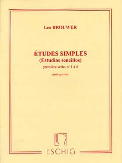 Etudes Simples - Estudios Sencillos 1ere Serie - No1 A 5