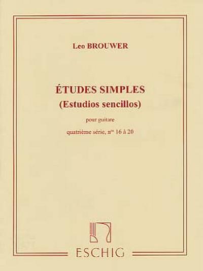 Etudes Simples - Estudios Sencillos 4 Ere Serie - No16 A 20