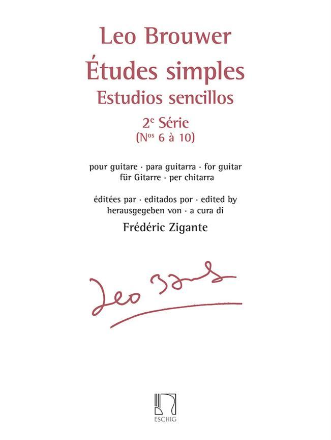 Etudes Simples - Estudios Sencillos - Série 2, No 6 A 10