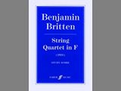 String Quartet In F (Score)