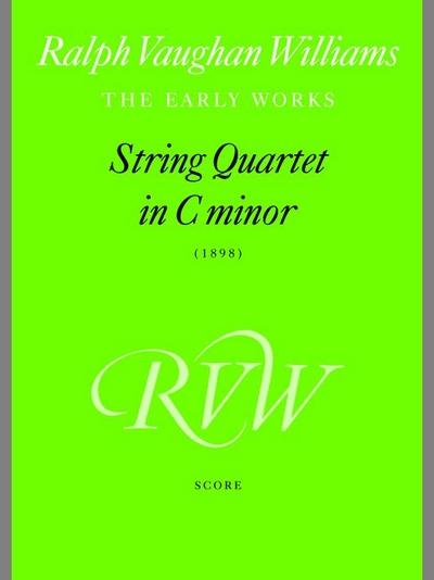 String Quartet In C Minor (Score)