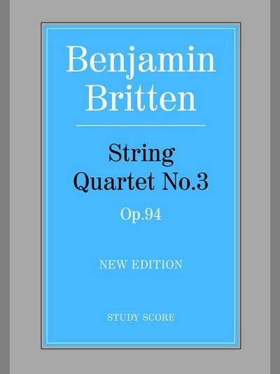 String Quartet #3 (Score) New Edition