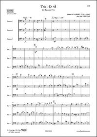 Trio - D. 43 - F. Schubert - Trio De Bassons