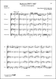 Badinerie Bwv 1067 - J. S. Bach - Hautbois Et Quatuor De Clarinettes