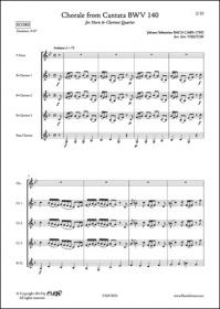 Choral De La Cantate Bwv 140 - J. S. Bach - Cor Et Quatuor De Clarinettes