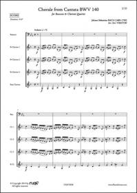 Choral De La Cantate Bwv 140 - J. S. Bach - Basson Et Quatuor De Clarinettes