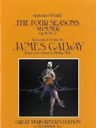 Vivaldi Four Seasons Summer Op. 8 No2 Transc. Galway Flûte (Les quatre saisons)