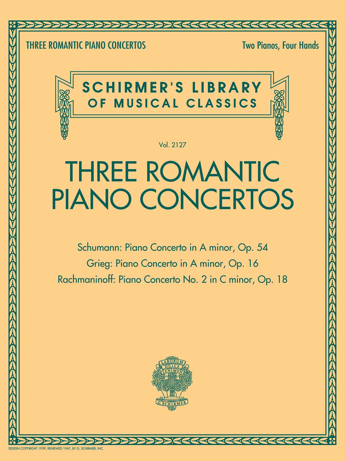 3 Romantic Piano Concertos