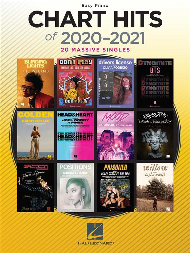 Chart Hits of 2020-2021 Easy Piano