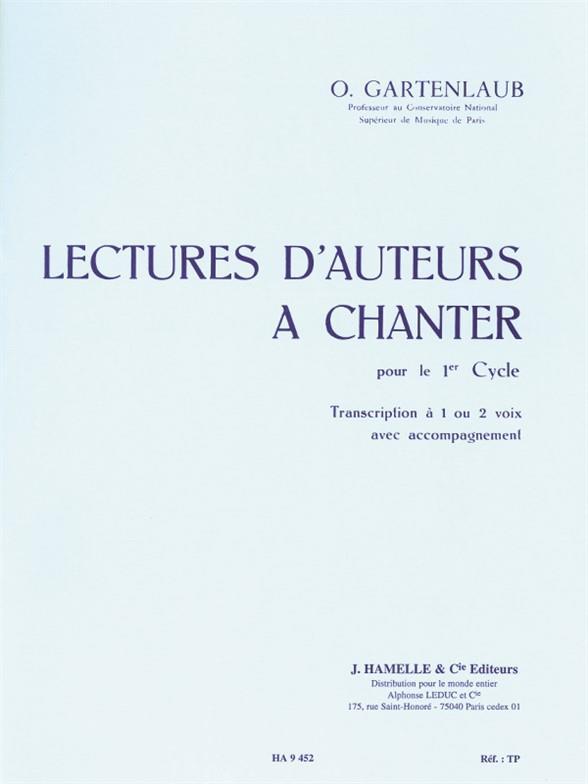 Lectures D'Auteurs A Chanter Cycle 1 1 Ou 2 Voix Avec Accompagnement