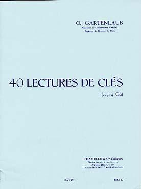 40 Lectures De Clés 2, 3 Ou 4 Clés