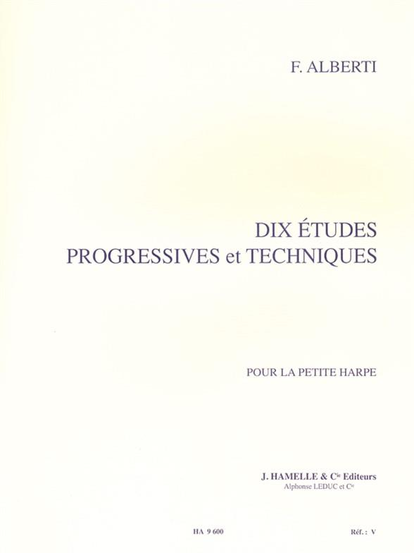 10 Etudes Progressives Et Techniques - Harpe Celtique
