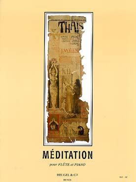 Thais Meditation Flûte Et Piano