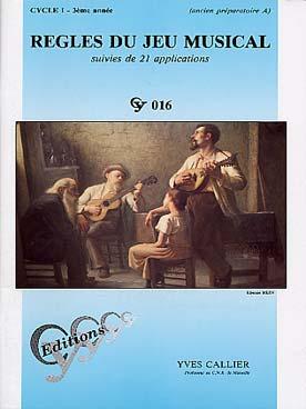 Regles Du Jeu Musical Cycle 1 - 3ème Annee Cy016