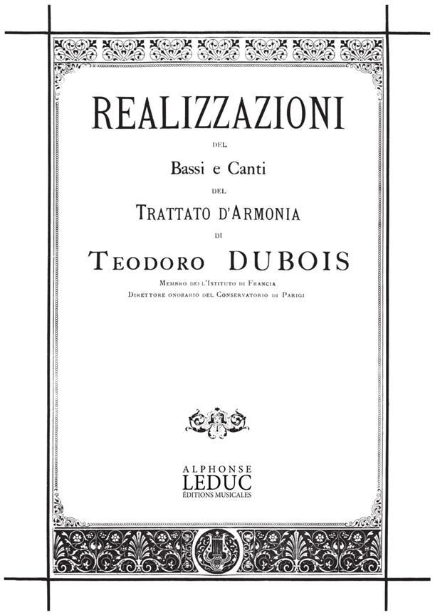 Realisations Des Basses Et Chants Du Traite D'Harmonie/Version Italienne