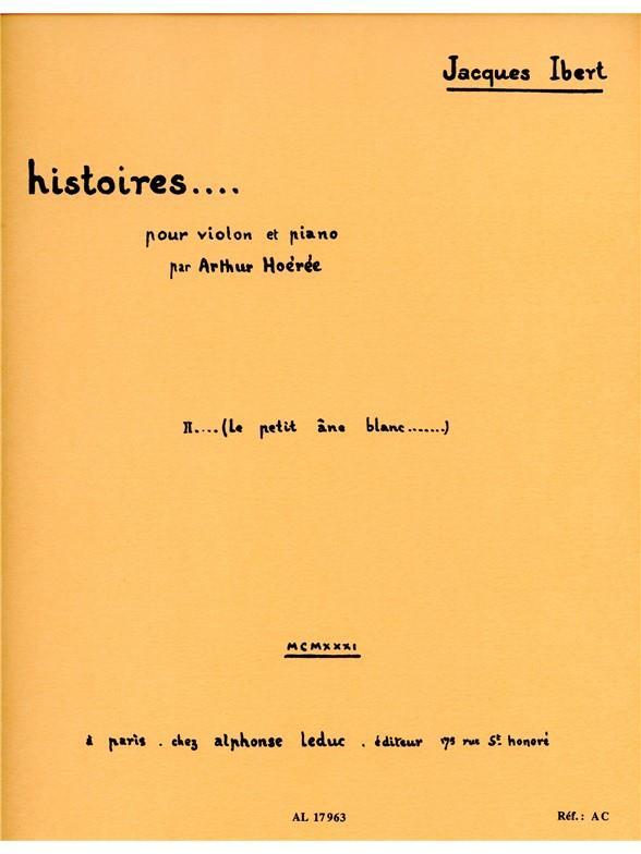Histoires N002 Le Petit Ane Blanc Violon Et Piano