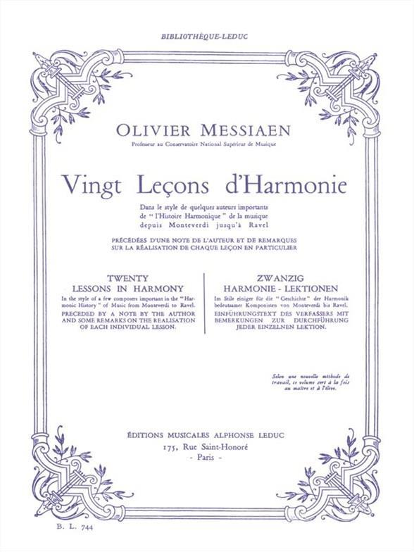 20 Lecons D'Harmonie Bl744