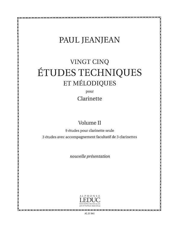 25 Etudes Techniques Et Melodiques - Vol.2