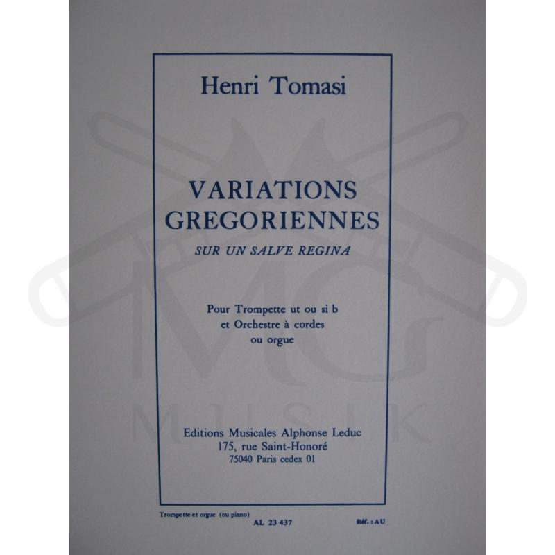Variations Gregoriennes Sur Un Salve Regina Trompette Et Orgue