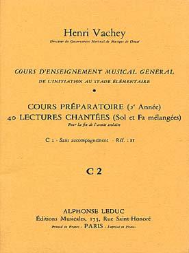 Cours Enseignt Musical General 2ème Anneeprep.40 Lect.2 Clés Fin Annee S - Acc2