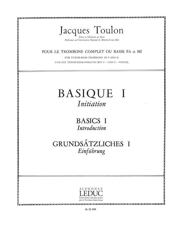 Basique 1 Initiation