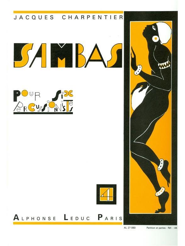 Sambas Pour 6 Percussionnistes Samba N04 Partition Et Parties