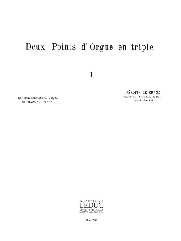 2 Points D'Orgue En Triple Clas N027