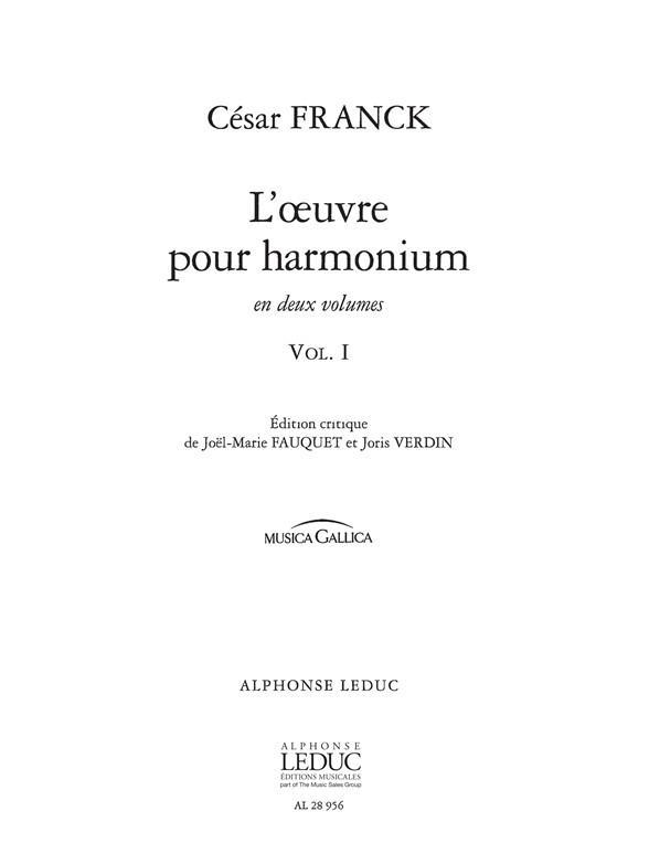 Oeuvre Pour Harmonium Vol.1