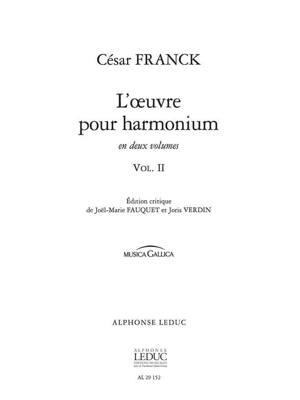 Oeuvre Pour Harmonium Vol.2