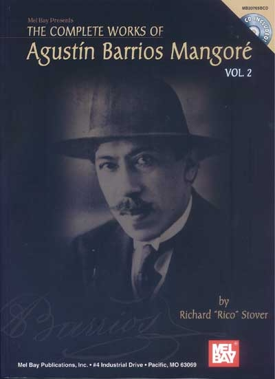 Complete Works Of Agustin Barrios Mangore For Guitar Vol.2