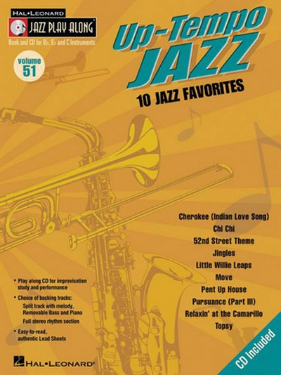 Jazz Play Along Vol.51 Up-Tempo Jazz Bb Eb C Inst.