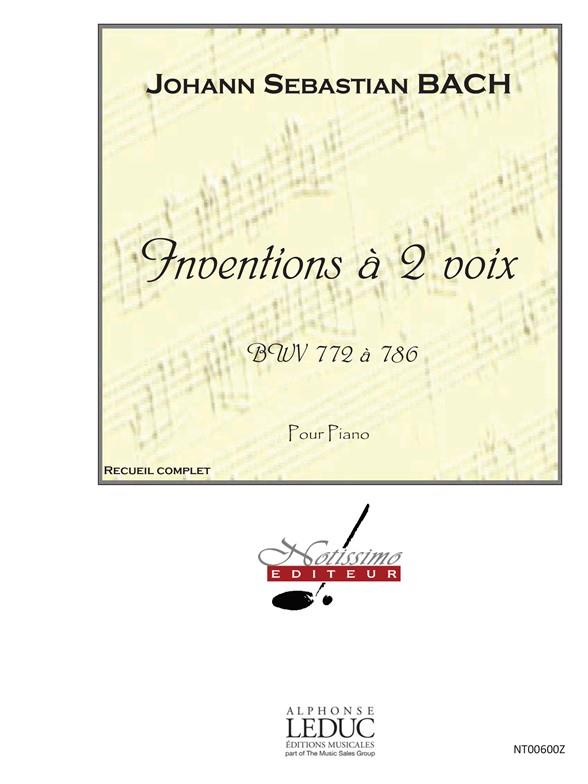 Inventions A 2 Voix Bwv772 A 786/Piano/Recueil