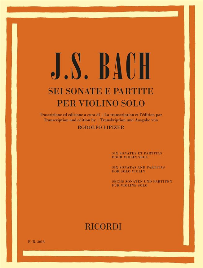 6 Sonate E Partite Per Violino Solo