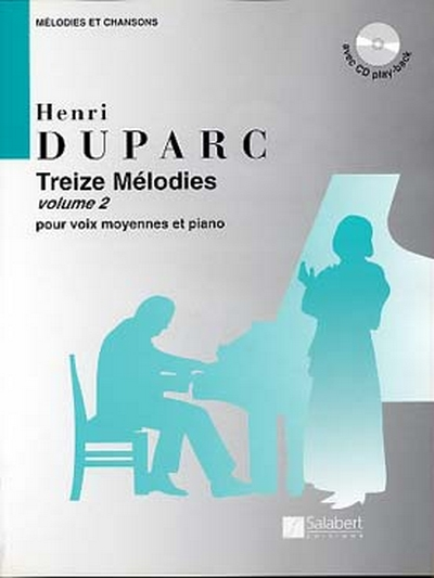13 Melodies Vol.2 Pour Voix Moyennes Et Piano Avec Cd Play-Back