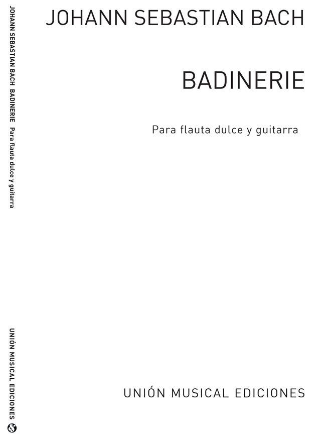 Bach Badinerie Para Flauta Dulce Y Guitarra