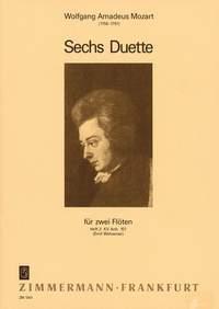 6 Duos Pour 2 Flûtes. Cahier #2: Nos. 4 A 6 Kv 157