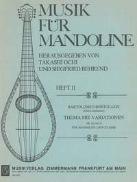 Thème Avec Variations Op. 10, 4 Pour Mandoline Et Guitare